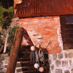 Painting 'Clovelly' by Jeremy Sanders