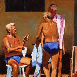 Painting 'Brighton Swimming Club' by Jeremy Sanders