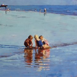 Painting 'Low Tide Brighton' by Jeremy Sanders