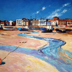 Painting 'Low Tide, St. Ives' by Jeremy Sanders