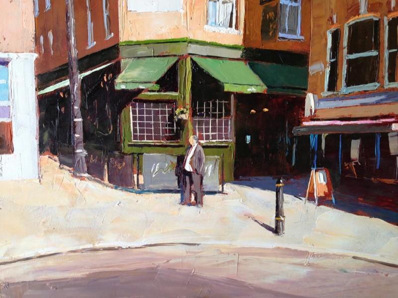 Painting 'Shepherds Market' by Jeremy Sanders
