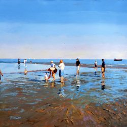 Painting 'Low Tide, Brighton #2' by Jeremy Sanders