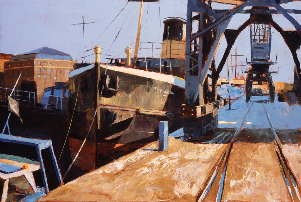 Painting 'Bristol Docks' by Jeremy Sanders