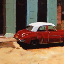Painting 'Red and White' by Jeremy Sanders