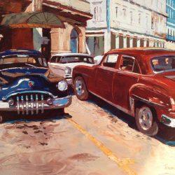 Painting 'Red & Blue Havana' by Jeremy Sanders