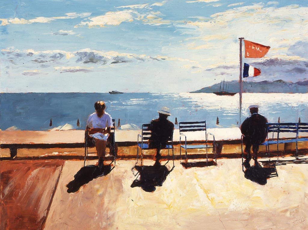 Painting 'Catching the Rays, Cannes' by Jeremy Sanders