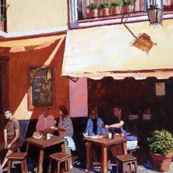 Painting 'Tapas Stop, Sevilla' by Jeremy Sanders
