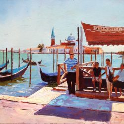 Painting 'Gondelier' by Jeremy Sanders
