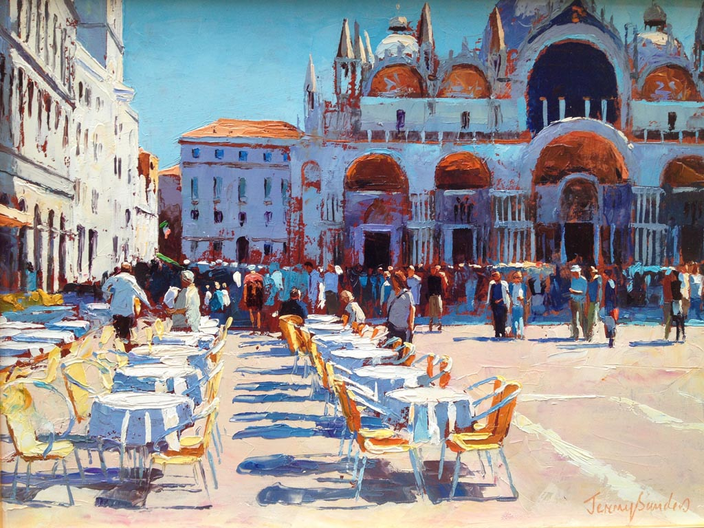 Painting 'Sunday Bells' by Jeremy Sanders