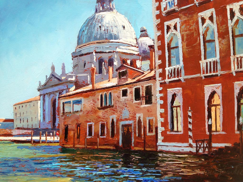 Painting 'On the Vaporetta' by Jeremy Sanders