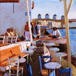 Evening Sun, Mykonos by Jeremy Sanders