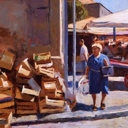 Painting 'Market Day' by Jeremy Sanders