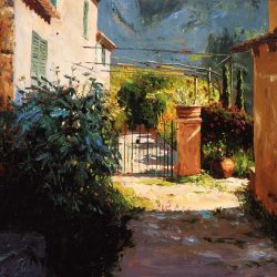 Painting 'Deia, Majorca' by Jeremy Sanders