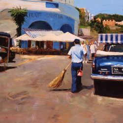 Painting 'Spotless Street, Capri' by Jeremy Sanders