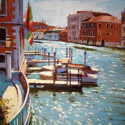 Painting 'Shimmering Light on the Grand Canal' by Jeremy Sanders