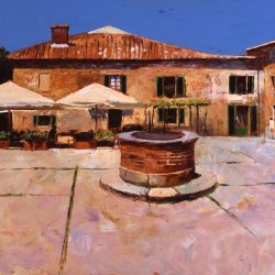 Painting 'Courtyard Monterrigioni' by Jeremy Sanders