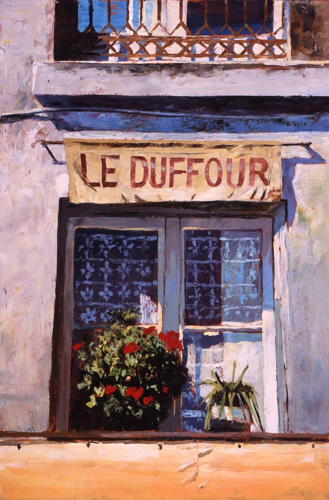 Painting 'Le Duffour' by Jeremy Sanders
