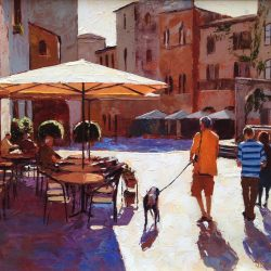 Painting 'Family Day, Tuscany' by Jeremy Sanders