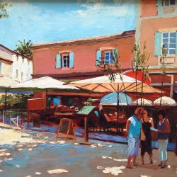 Painting 'Lunching, St. Tropez' by Jeremy Sanders