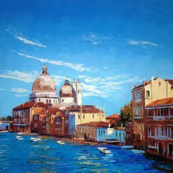 Painting 'Late Afternoon, Venice' by Jeremy Sanders