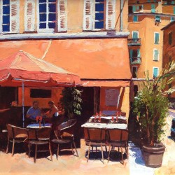 Painting 'Pit Stop, Vieux Nice' by Jeremy Sanders