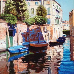 Painting 'Backwater Blue' by Jeremy Sanders