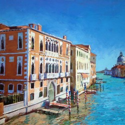 Painting 'A Quiet Stretch, Grand Canal' by Jeremy Sanders