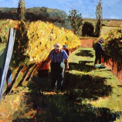 Painting 'Picking the Noble Rot' by Jeremy Sanders