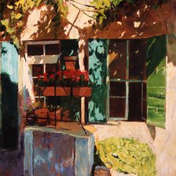 Painting 'Courtyard, Provence' by Jeremy Sanders