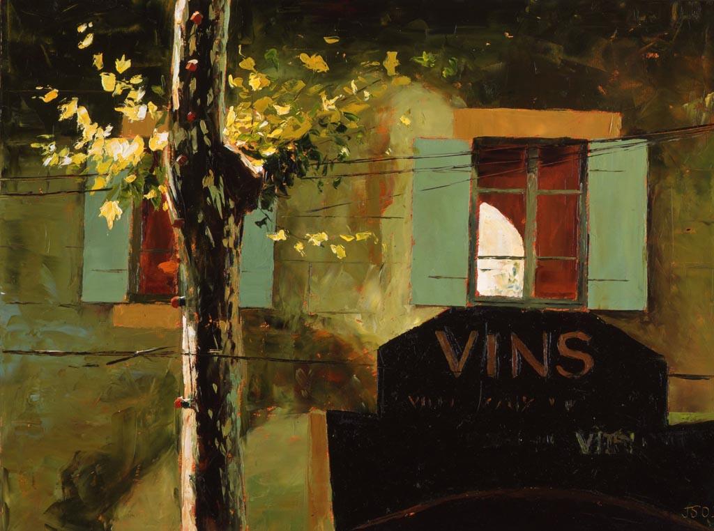 Painting 'Le Vins' by Jeremy Sanders