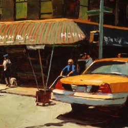 Painting 'Greenwich Village' by Jeremy Sanders
