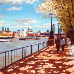 Painting 'St. Paul's from the Southbank' by Jeremy Sanders