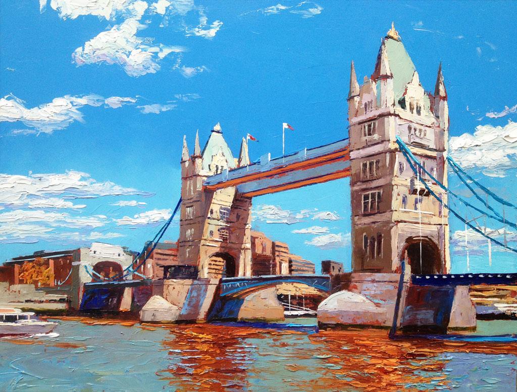 Painting 'Tower Bridge' by Jeremy Sanders