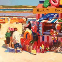 Painting 'Buckets & Spades, Weymouth' by Jeremy Sanders