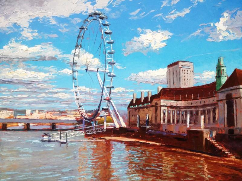 Painting 'London Eye' by Jeremy Sanders