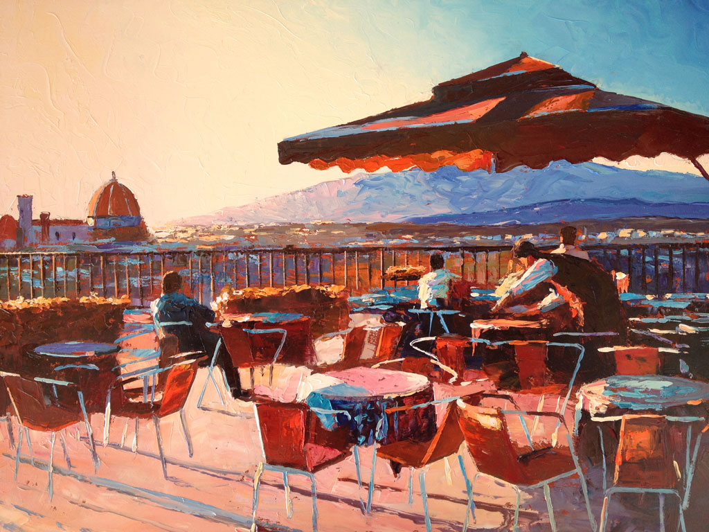 Painting 'Evening in Florence' by Jeremy Sanders