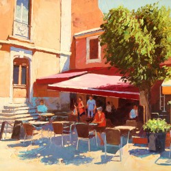 Painting 'Ramatuelle' by Jeremy Sanders