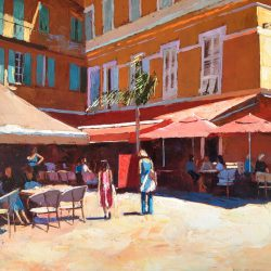 Painting 'Lunch in the Shade, Nice' by Jeremy Sanders