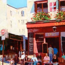 Painting 'Le Monde, Paris' by Jeremy Sanders