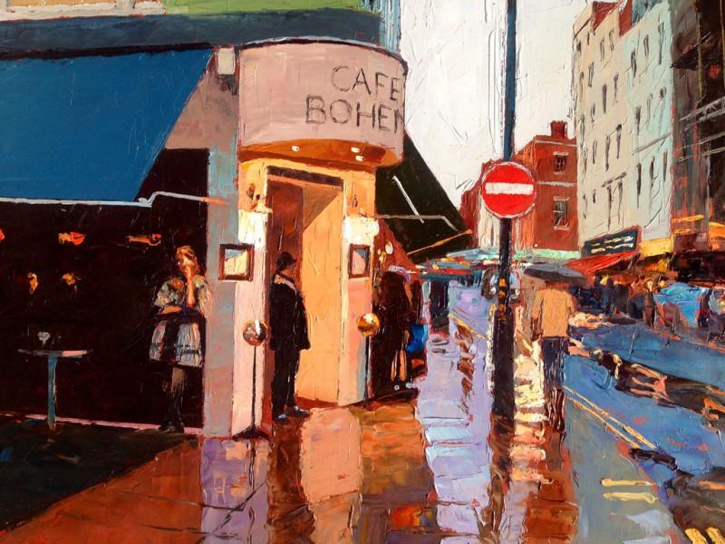 Painting 'Cafe Boheme' by Jeremy Sanders