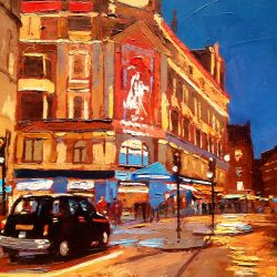 Painting 'Taxi, Charing Cross' by Jeremy Sanders