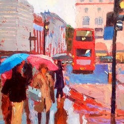 Painting 'Piccadilly Circus Rain' by Jeremy Sanders