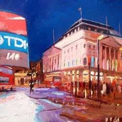 Painting 'Piccadilly Bus' by Jeremy Sanders