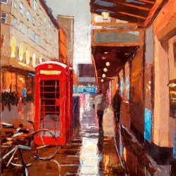 Painting 'Off Shaftesbury Avenue' by Jeremy Sanders