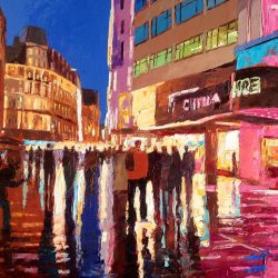 Painting 'Leicester Square' by Jeremy Sanders