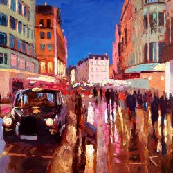 Painting 'Haymarket Taxi' by Jeremy Sanders