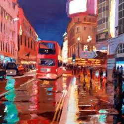Painting 'Haymarket Bus' by Jeremy Sanders