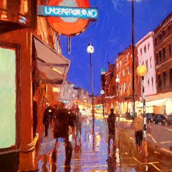 Painting 'Covent Garden Tube' by Jeremy Sanders