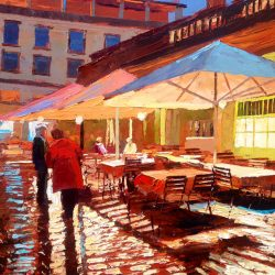 Painting 'Covent Garden Reflections' by Jeremy Sanders
