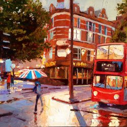 Painting 'Cambridge Circus' by Jeremy Sanders